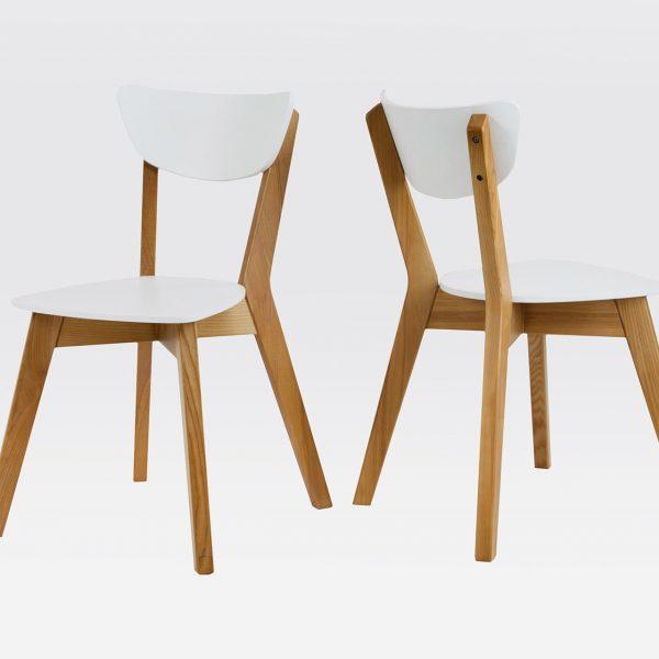 Два стула Рондо Микс Мебель в белом цвете
