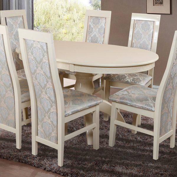 Стол Престиж Микс Мебель со стульями белый