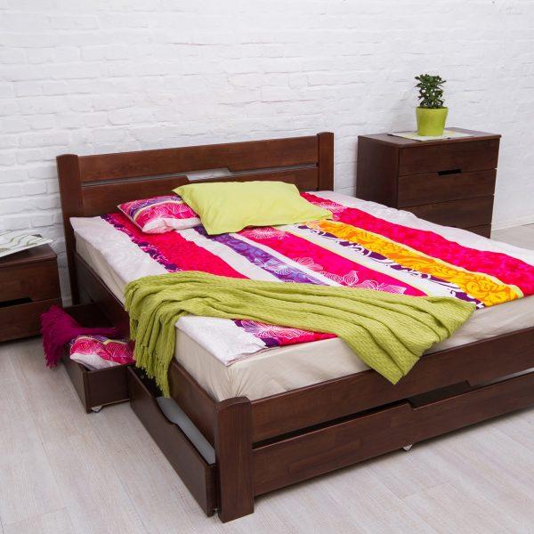 Кровать Айрис Микс Мебель с ящиками сверху