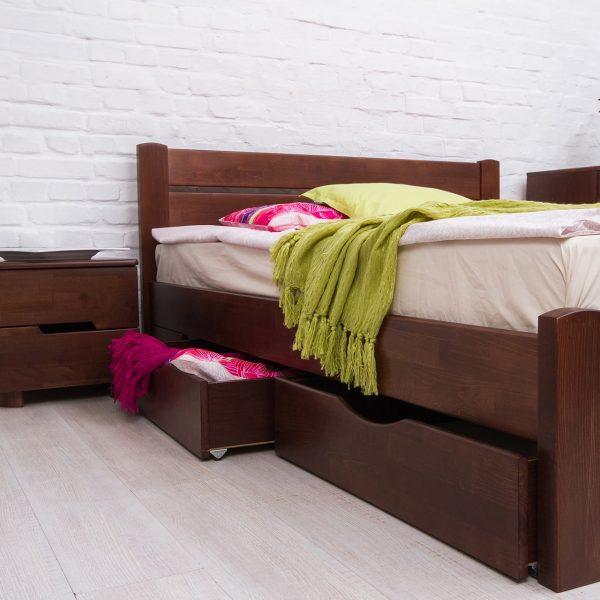 Кровать Айрис Микс Мебель с ящиками сбоку