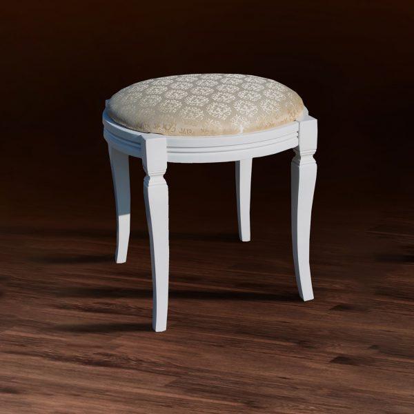 Банкетка круглая Микс Мебель белый цвет