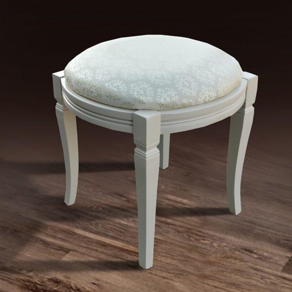 Банкетка круглая Микс Мебель белая