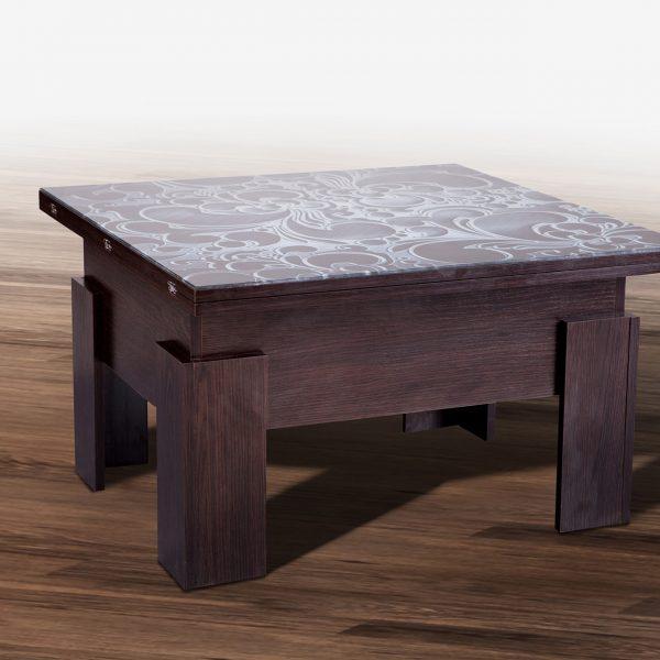 Стол трансформер Дельта со стеклом Микс Мебель