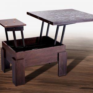 Стол трансформер Дельта со стеклом Микс Мебель разложенный