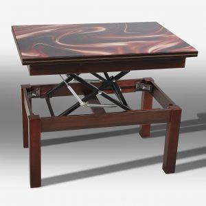 Стол трансформер Флай со стеклом Микс Мебель