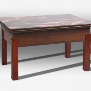 Стол трансформер Флай со стеклом Микс Мебель сложенный
