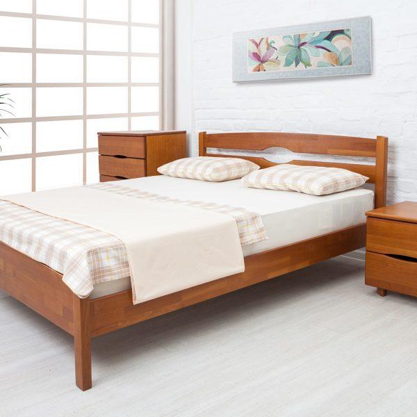Кровать Каролина Микс мебель без изножья светлый орех