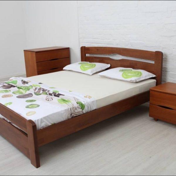 Кровать Каролина Микс мебель с изножьем реальное фото