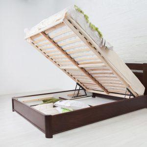 Кровать Каролина Микс Мебель с подъемным механизмом открытая