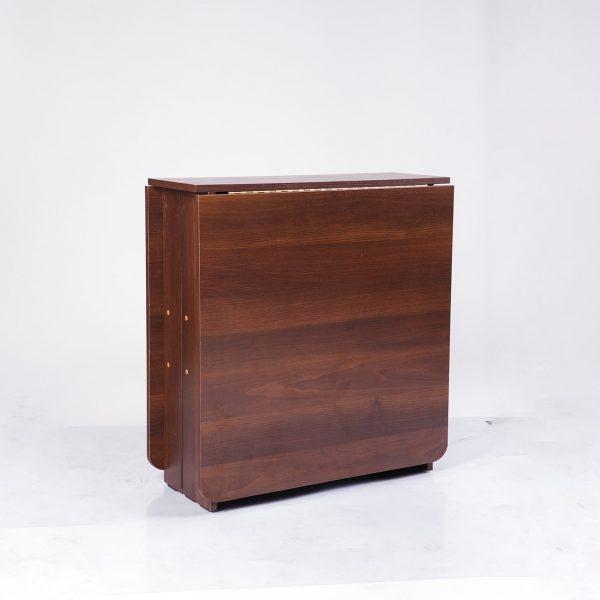 Стол трансформер Книжка Микс Мебель темный орех сложенный