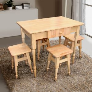Кухонный комплект Стол и 4 табурета Микс Мебель