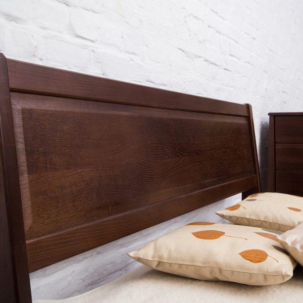 Кровать Сити Микс Мебель без изножья изголовье темное