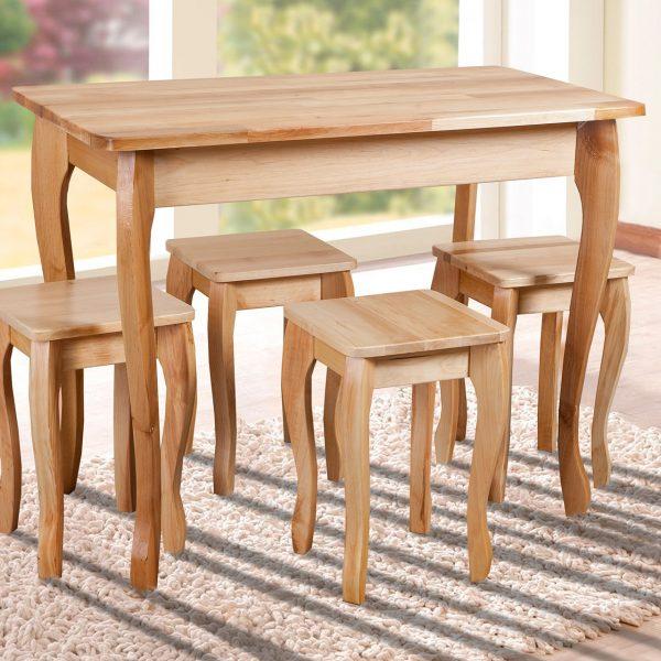 Стол обеденный Смарт Микс Мебель натуральный с табуретами