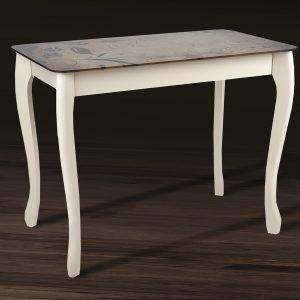 Стол Смарт со стеклом Микс Мебель боком