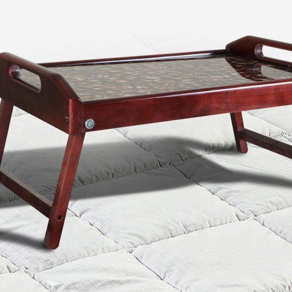 Столик для завтрака деревянный Микс Мебель темный орех