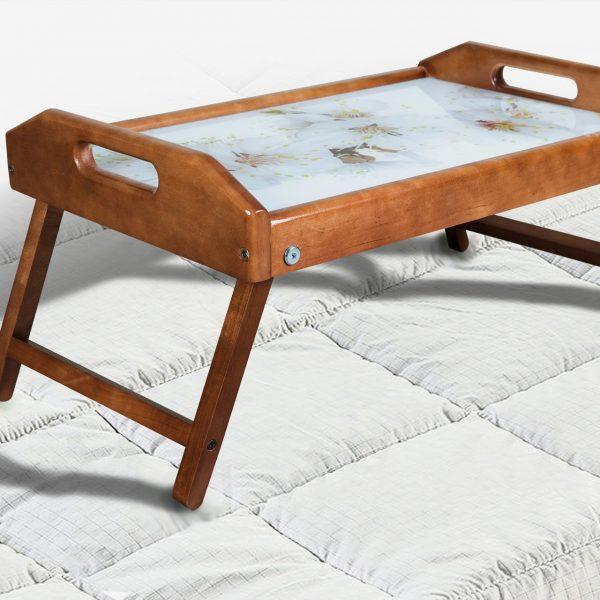 Столик для завтрака со стеклом Микс Мебель яблоня