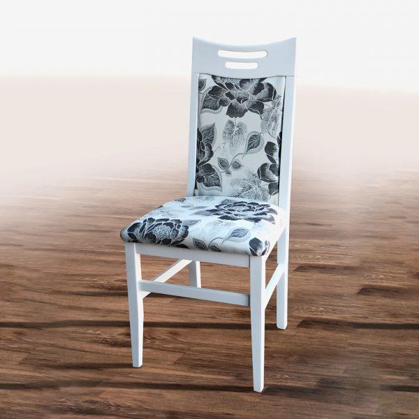Стул Юля Микс Мебель белый с бежевым рисунком