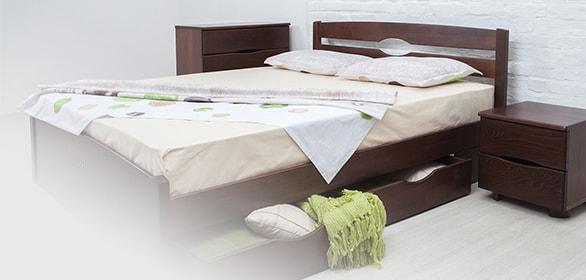 Двуспальные кровати микс мебель