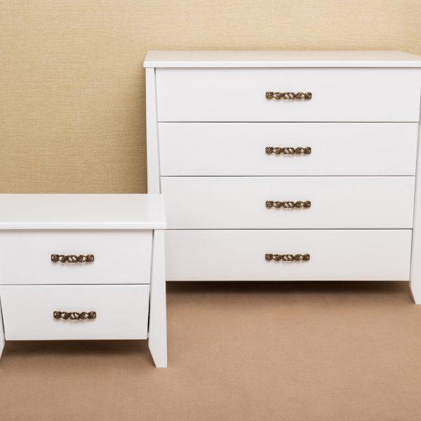 Комод и тумба Сити Микс мебель белые
