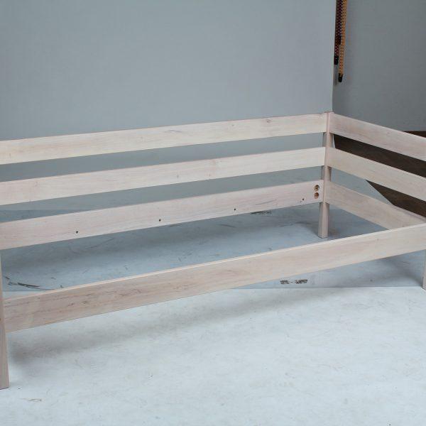 Кровать Sky-3 Микс Мебель беленый дуб реальное фото