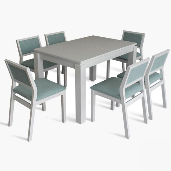 Стол Марко Марко Мебель белый со стульями