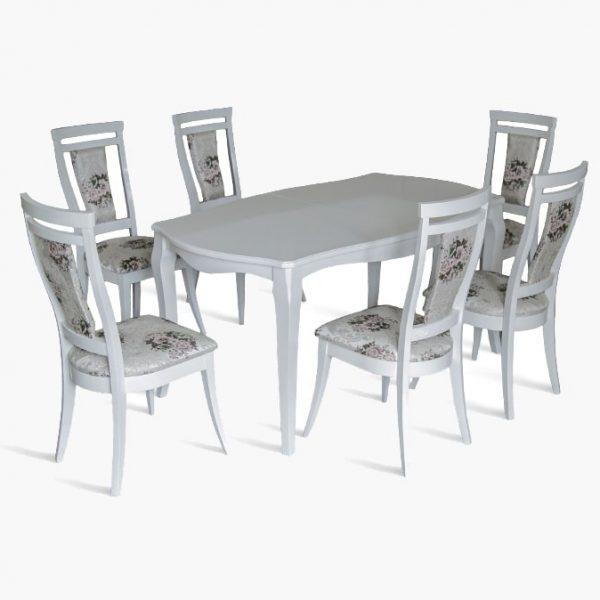 Стол Маркиз Марко Мебель белый со стульями