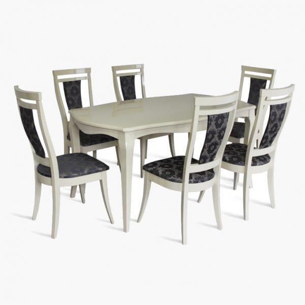 Стол Маркиз Марко Мебель слоновая кость со стульями